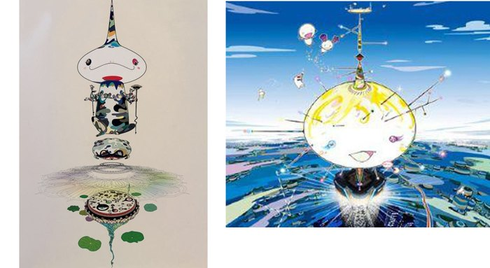 Takashi Murakami-Reversed Double Helix, Mamu Came From the Sky-2005