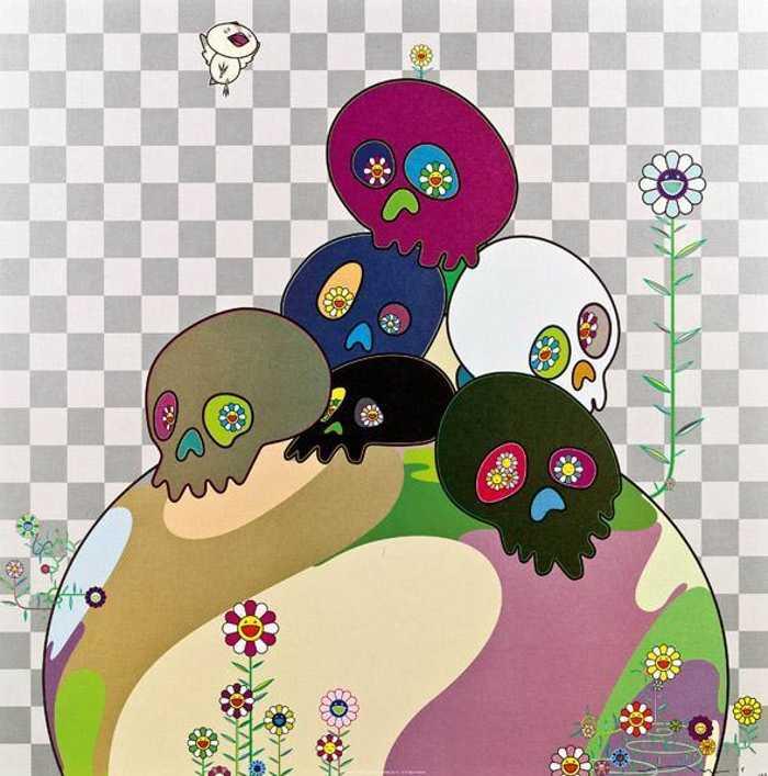 Takashi Murakami-Skulls Rock-2004