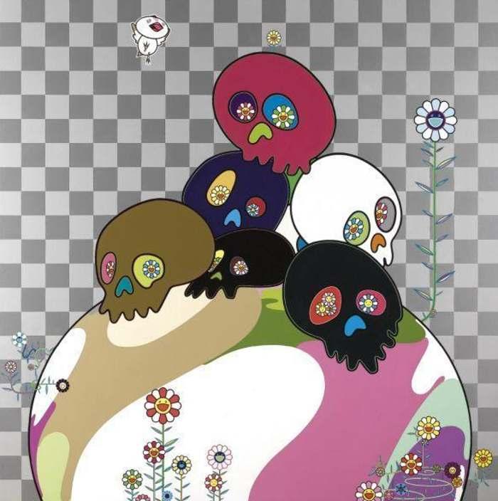 Takashi Murakami - Skulls Rock-2004