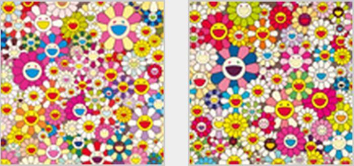 Takashi Murakami-Smiling Flowers, Such Cute Flowers-2011