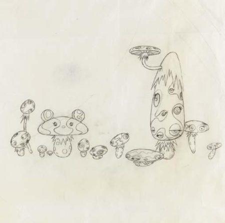 Takashi Murakami-Study for Mushroom Painting #2-1999