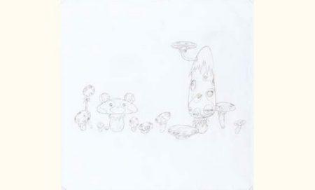 Takashi Murakami-Study for Mushroom Painting No.2-1999