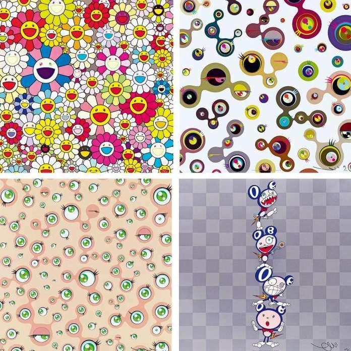 Takashi Murakami-Such Cute Flowers, Jellyfish Eyes White 4, Jellyfish Eyes, DOB Totem Pole-2011