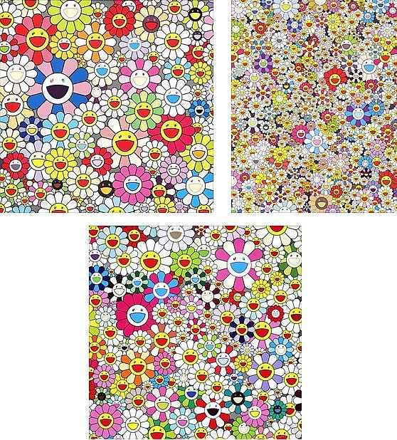 Takashi Murakami-Such Cute Flowers; Maiden in The Yellow Straw Hat; Poporoke Forest-2011