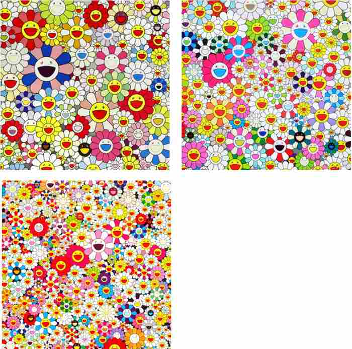 Takashi Murakami-Such Cute Flowers, Maiden in the Yellow Straw Hat, Flowers in Heaven-2010