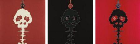 Takashi Murakami-Time Bokan-Pink, Time Bokan-Black & Moss Green, Time Bokan-Missing in the Eyes Red-2006