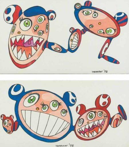 Takashi Murakami-Untitled (Pair of Drawings)-1998