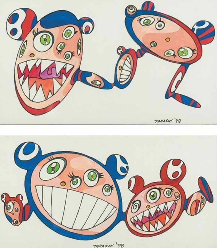 Takashi Murakami-Untitled (Pair of Drawings)-1998