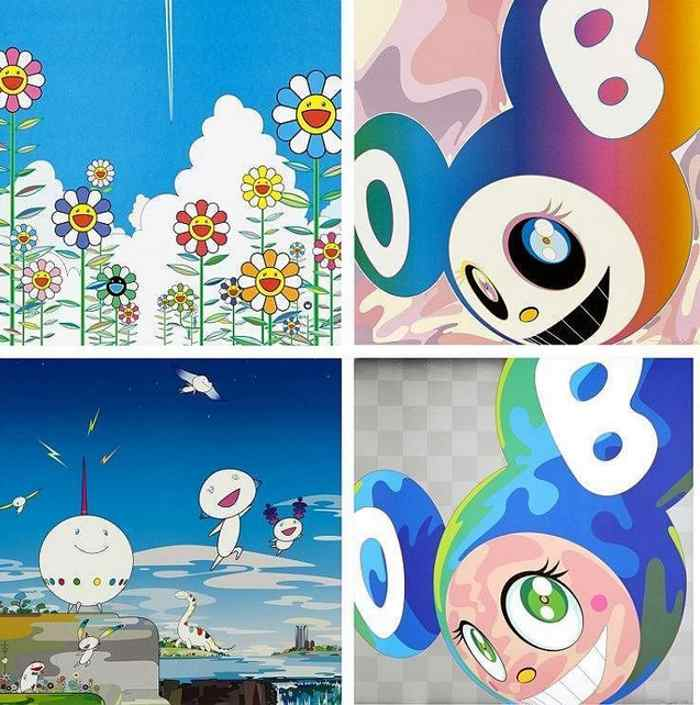 Takashi Murakami-Vapor Trail, And Then Rainbow, Planet 66, Melting DOB A-2008