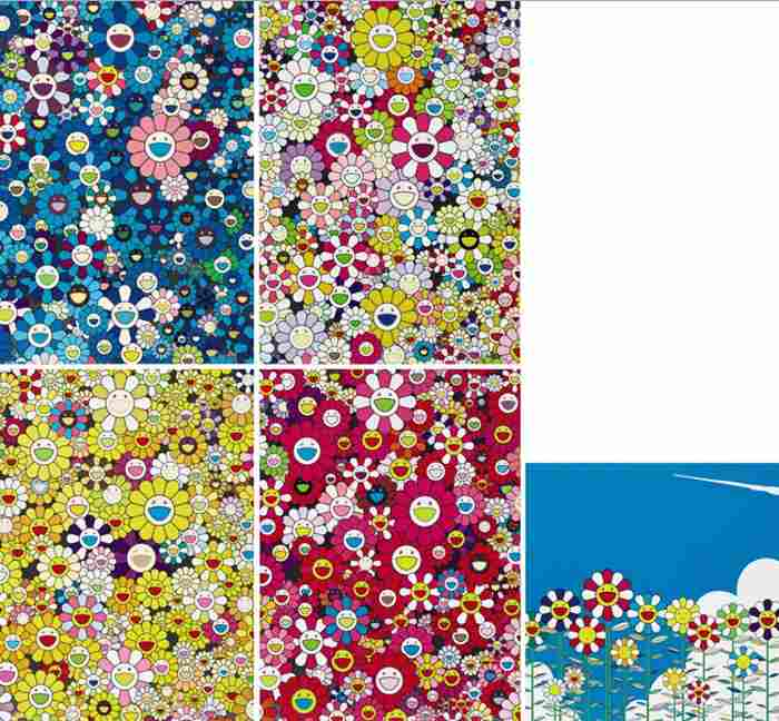 Takashi Murakami-Warhol-Silver (And Seven Other Works)-2012
