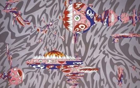 Takashi Murakami-When the Double Helix is Aroused I Hear a familiar Voice-1999