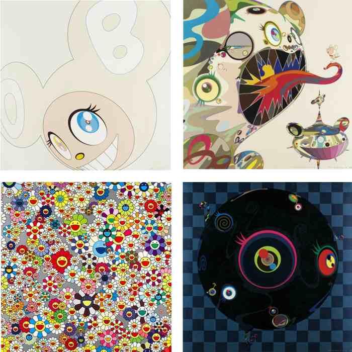 Takashi Murakami-White DOB, Homage to Francis Bacon, Flower, Blackbeard-2003