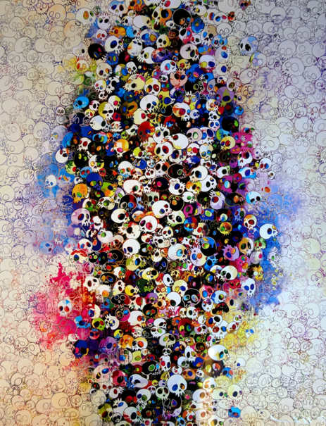 Takashi Murakami-Who's afraid of red, yellow, blue and death-2011