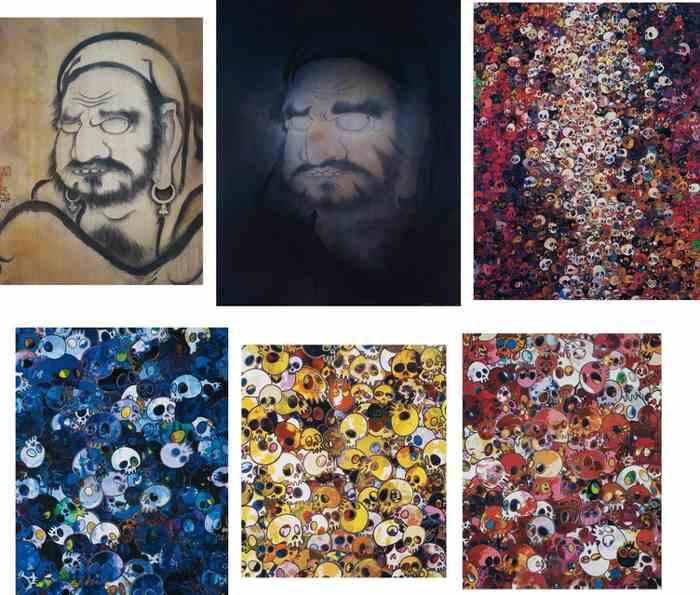 Takashi Murakami-Yo Hakuin, Mirroring Your Image-Take A Bow, Hakuin, I Know Not I Know, MCBST, 1959-2011, MGST 1962-2011, MCRST 1962-2011-2011