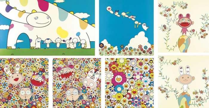 Takashi Murakami-Yoshiko and the Creatures, Planet 66 Summer Vacation, Kiki with Moss, KaikaiKiki and Me, Kaikai Kiki and Me, Flowers from the Village Ponkotan, Kaikai with Moss-2010