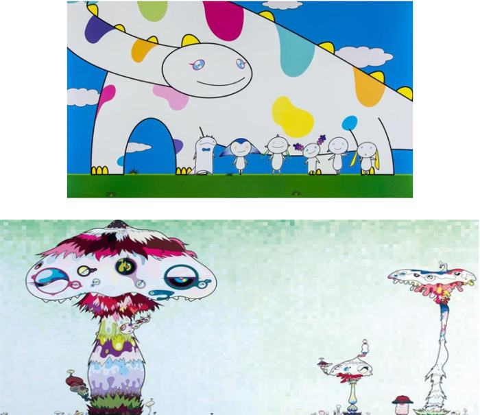 Takashi Murakami-Yoshiko and the creatures from planet 66, Hypha will cover the world-2007