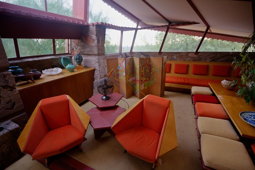 Taliesin West in Scottsdale, Arizona, Interior