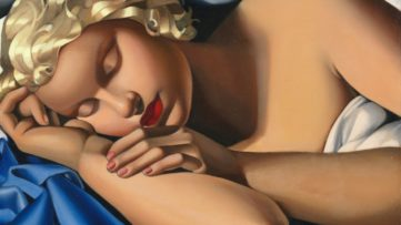 Tamara de Lempicka - Sleeping Woman; In 1929 and 1980, the family paintings in Mexico were a way of keeping a biography