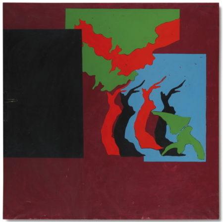 Tano Festa-Paesaggio Scarlatto Con La Maniglia-1969