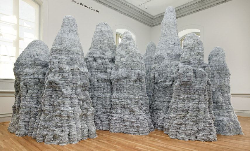 Tara Donovan - An Installation that's a part of the Wonder exhibit - Image via americanartsiedu