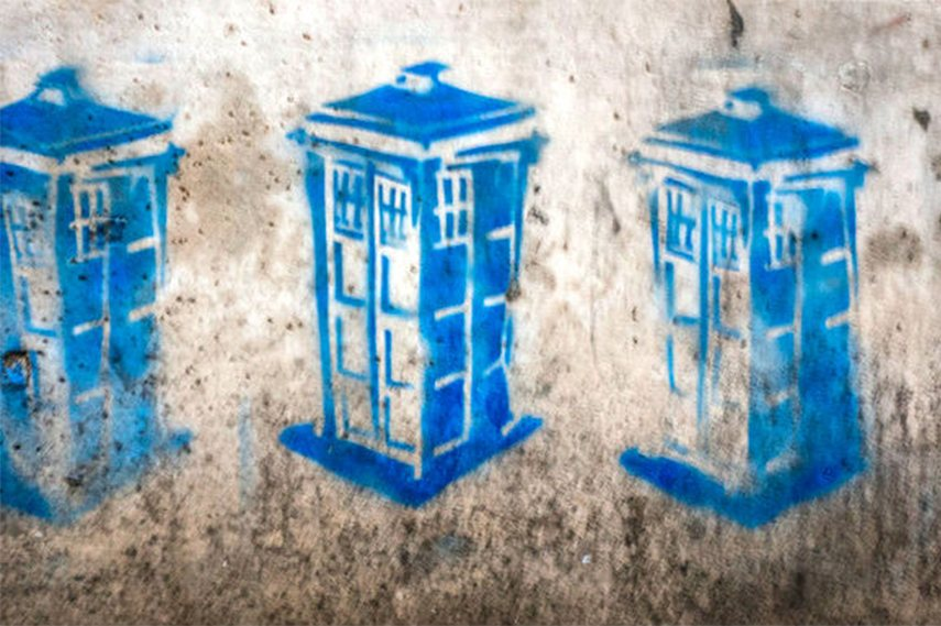 Tardis stencil - Rome, Italy canvas prints print wall poster help box add home email