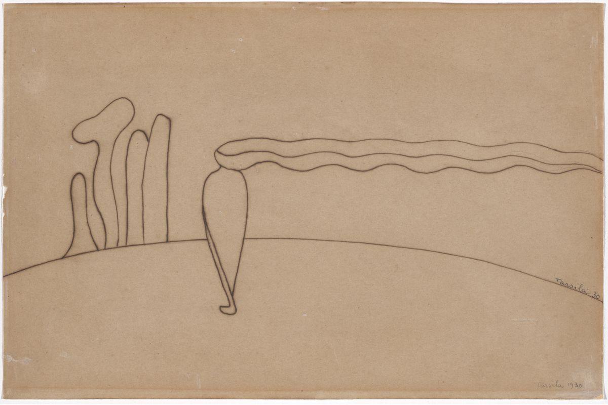 Tarsila do Amaral. Study for Composition (Lonely figure) III [Estudo de Composição (Figura só) III], 1930