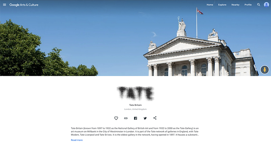Explore Tate Google Arts & Culture profile