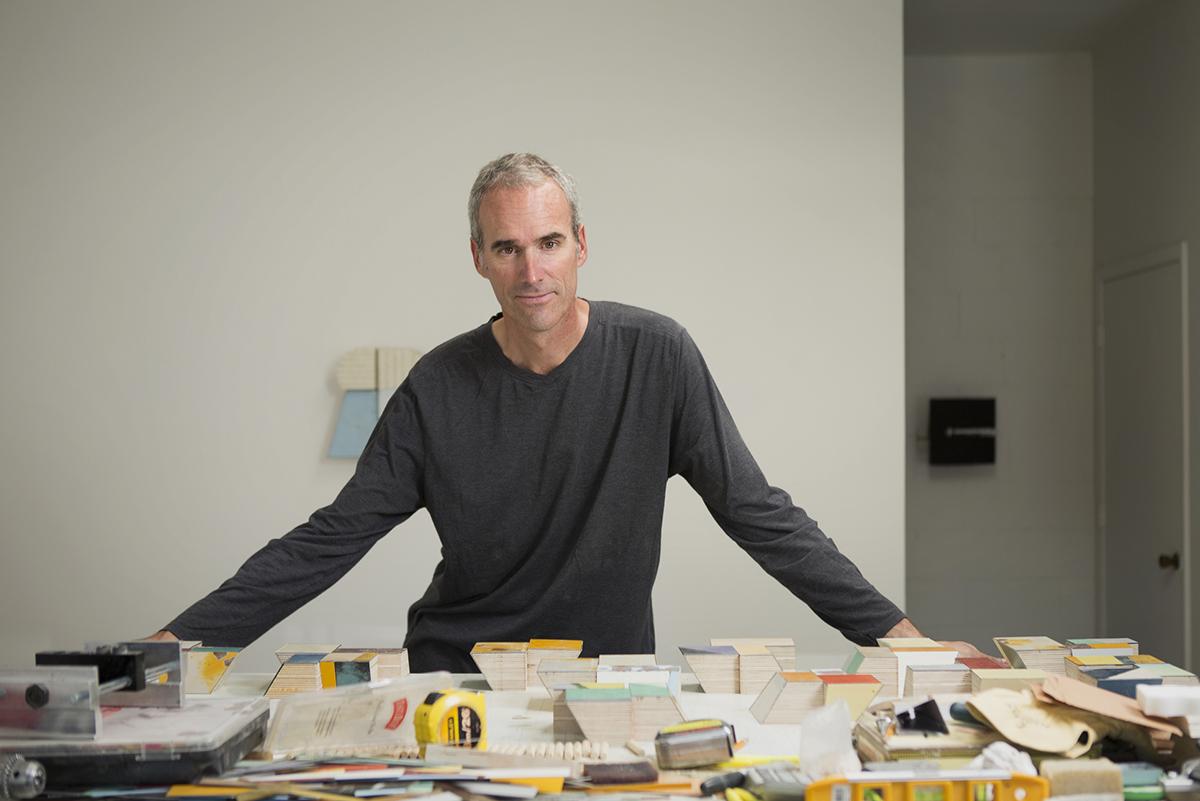 Ted Larsen in his studio in Santa Fe, 2015