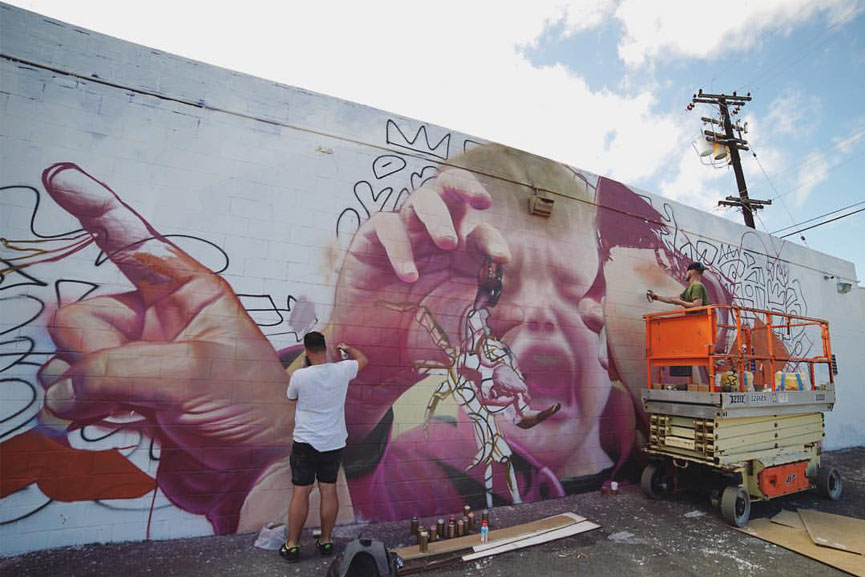 New mural by Telmo Miel in Honolulu