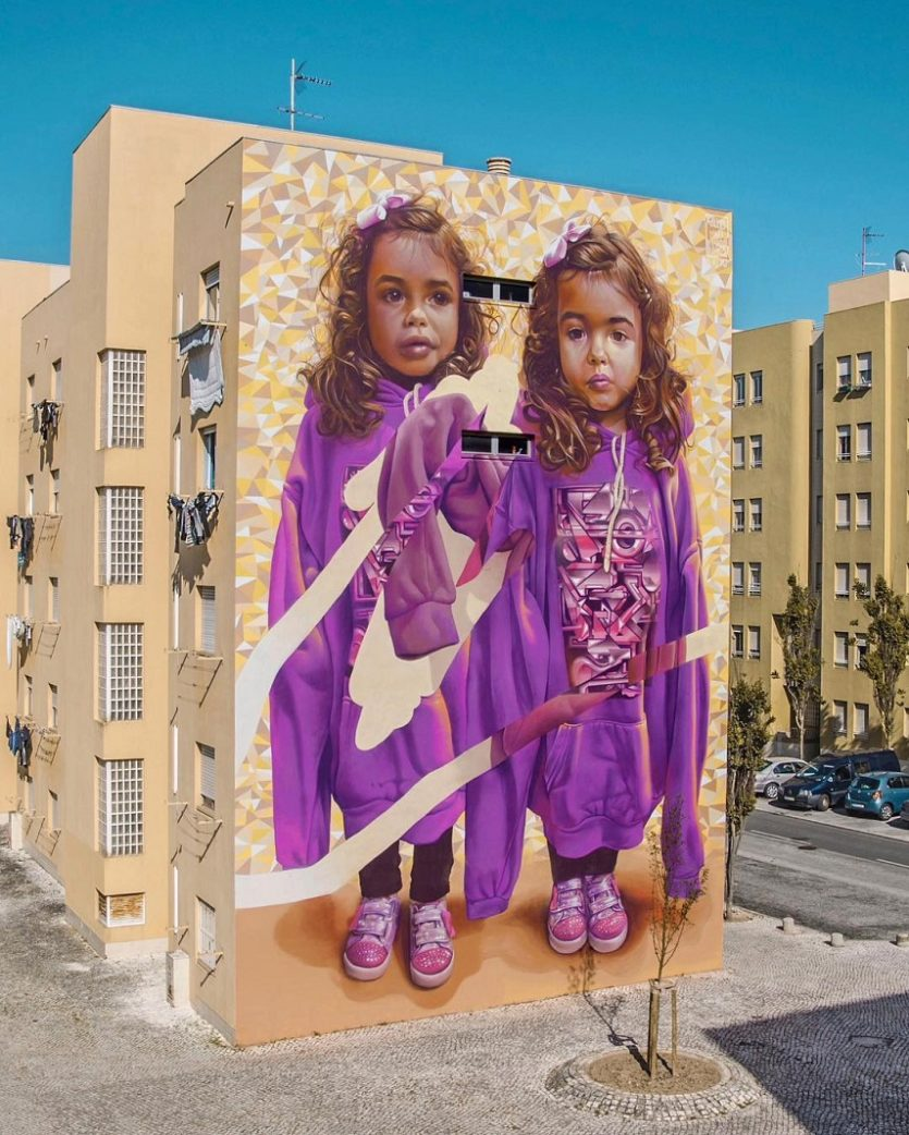 Telmo & Miel - Two of One kind, collaboration with Parizone for MURO festival, Lisbon, 2016