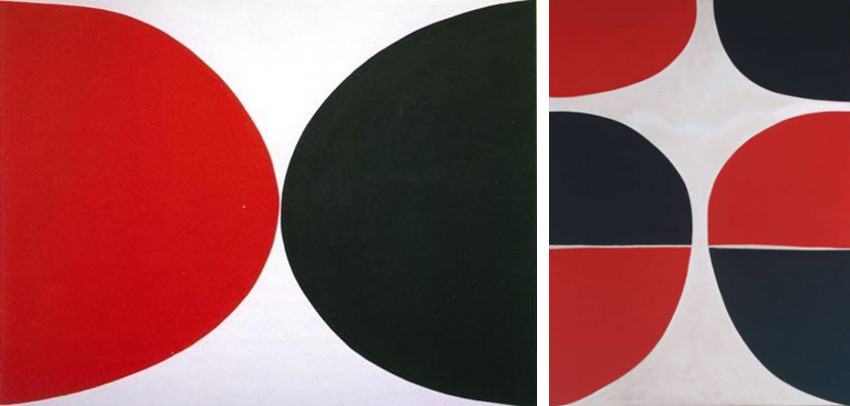 Terry Frost - Red Black and White, 1967 / June, Red and Black, 1965 visit