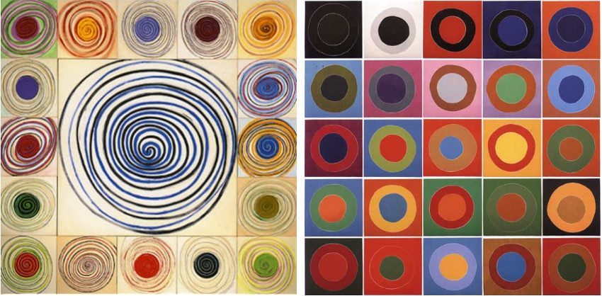 Terry Frost - Spirals, 1991 (Left) / Orchard Tambourine B Complete Portfolio, 2002 (Right)