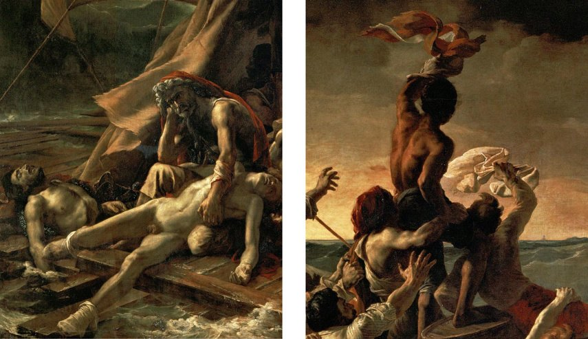 The subject of Romanticism work in Louvre, Paris, France, and London are not like each other