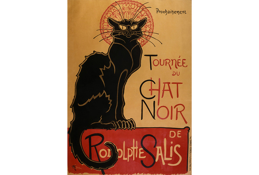 Le Chat Noir, possibly the most famous feline print in the world