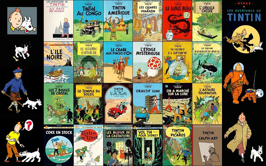 The Adventures of Tintin was very popular back in the day