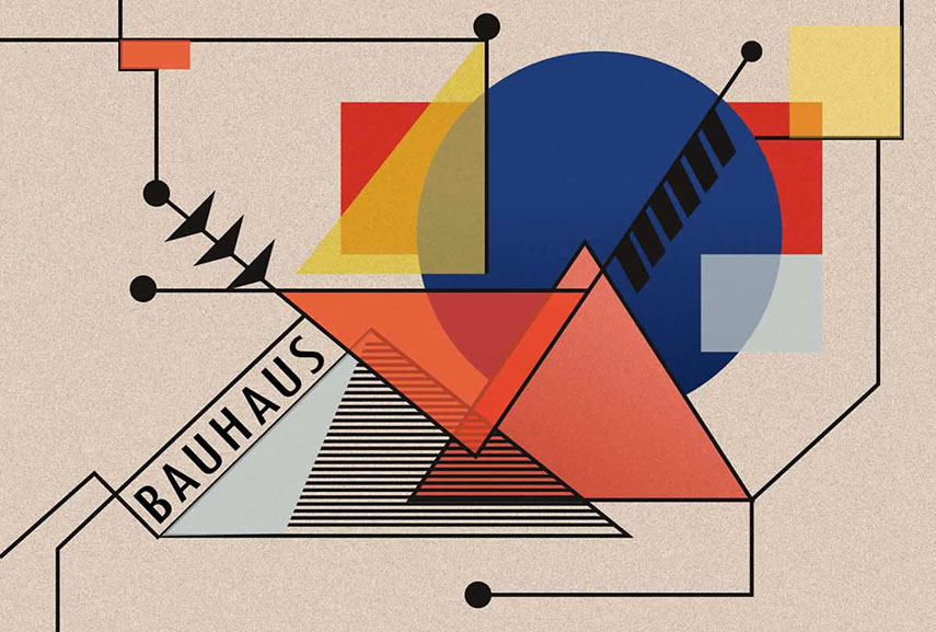 The Bauhaus School famously explored the concepts of color and shape