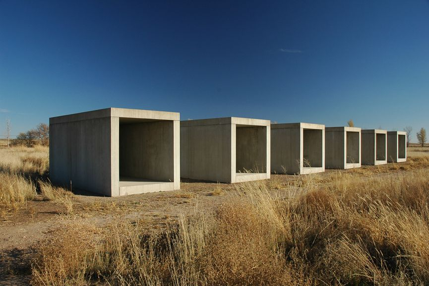 The Chinati Foundation, housing many big installations in West Texas