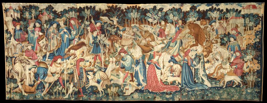 The Devonshire Hunting Tapestries; Boar Blue Mandala and Bear Hun Go Home, If you are looking for tapestry wall arworks, Tapestry Wall Blog is open all day long