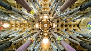 Antoni Gaudí architecture - The Dome of the Sagrada Familia Basilica in Barcelona