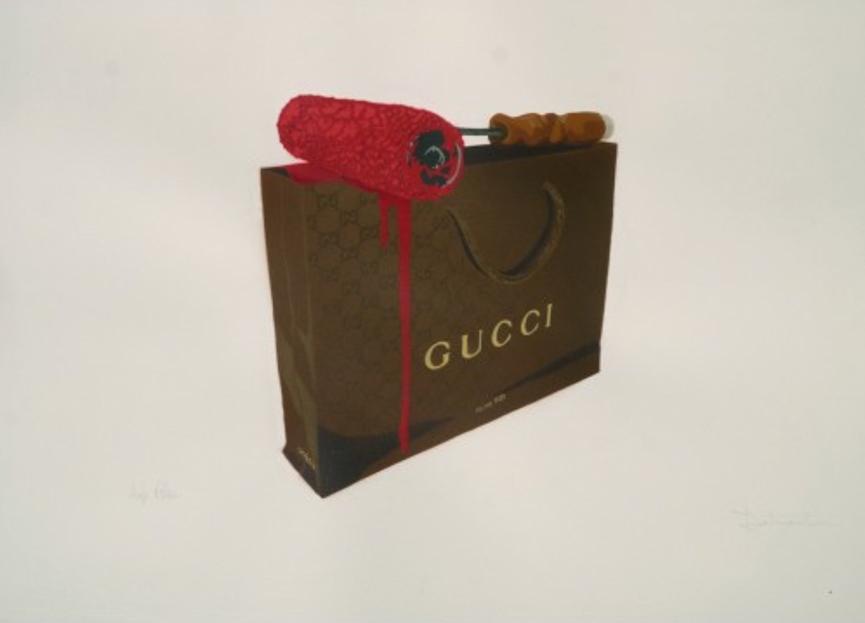 Gucci bag print