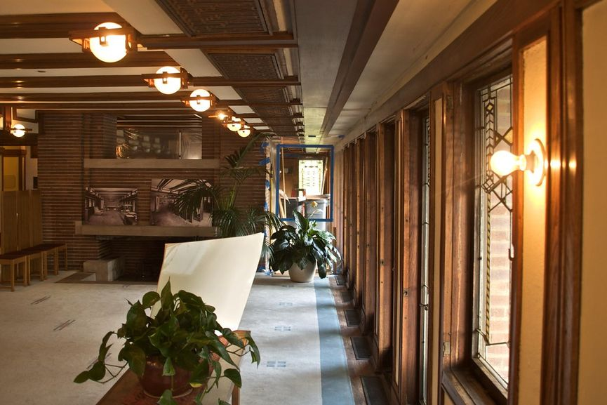 Frank Lloyd Wright - The Fredrick C. Robie House in Chicago, Illinois, Interior
