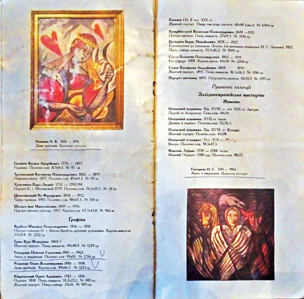 The Goncharova Evangelists catalogue