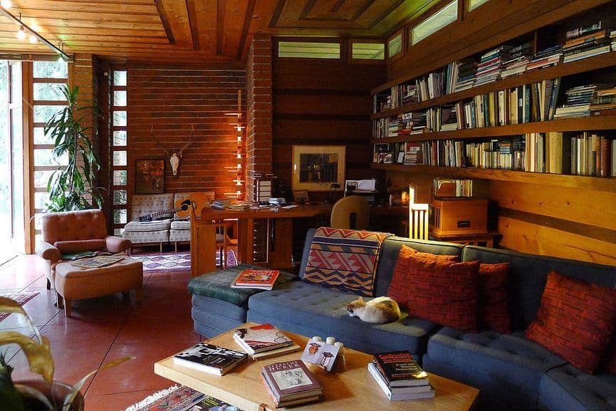 Frank Lloyd Wright - The Herbert and Katherine Jacobs House in Madison, Wisconsin, Interior