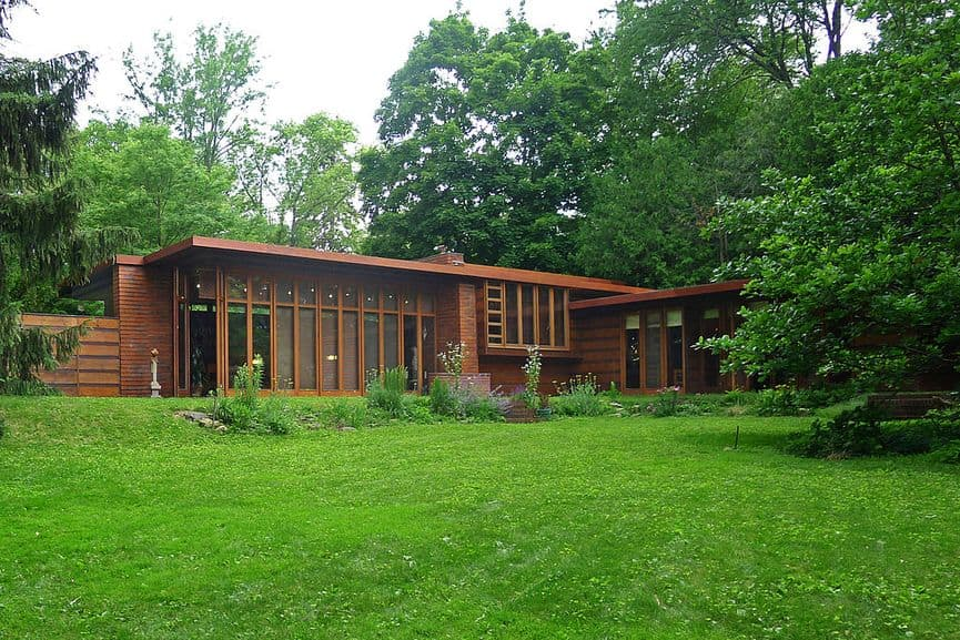 Frank Lloyd Wright - The Herbert and Katherine Jacobs House in Madison, Wisconsin, one of the buildings which are UNESCO world heritage sites since 2019