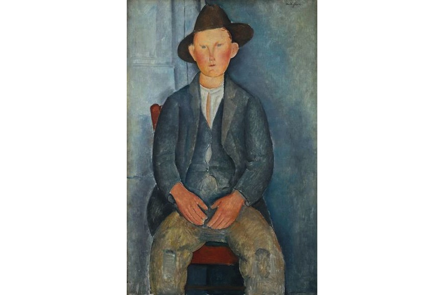 Amadeo Modigliani - The Little Peasant, c.1918, portrait created in Paris