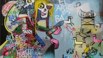 Unsanctioned Spanish Art in Dubai