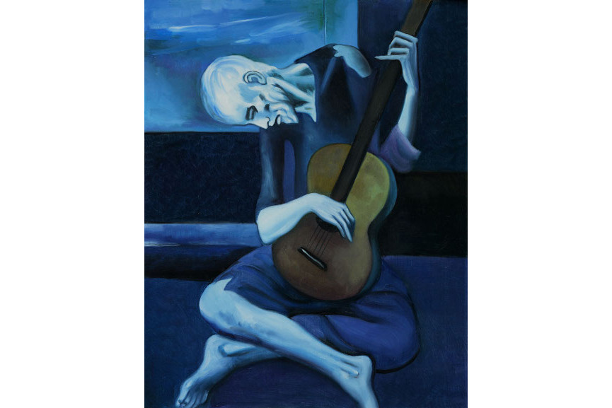 Picasso Pablo most famous paintings - The Old Guitarist, 1903