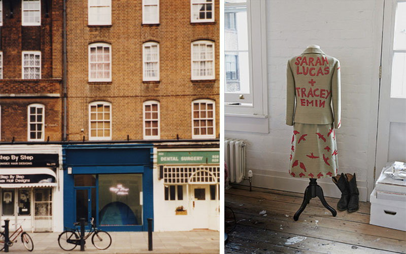 The Shop owned by Tracey Emin and Sarah Lucas and a mixed media piece they made, 1993 © artist