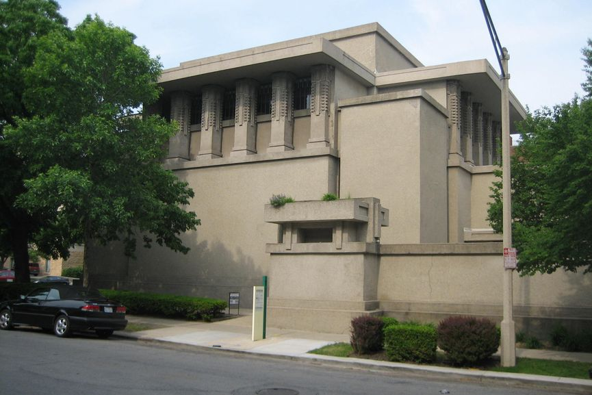 Frank Lloyd Wright - The Unity Temple in Oak Park, Illinois