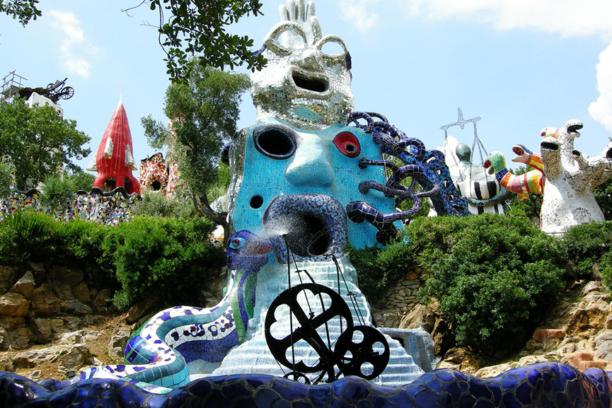 The Wheel of Fortune at the Tarot Garden by Niki de Saint Phalle, Tuscany
